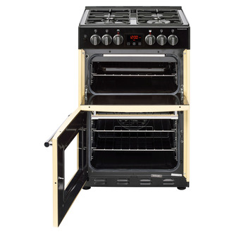 Image of Belling 444444713 Farmhouse 60DF 60cm Dual Fuel D Oven Cooker in Cream