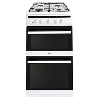 Compare retail prices of Amica 508TGG2W 50cm Twin Cavity Gas Cooker in White to get the best deal online