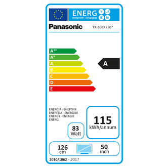Panasonic TX50EX750B 50 4K 3D HDR UHD Smart LED TV 2400Hz Freeview Pla