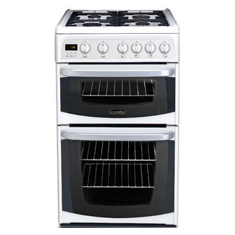 Cannon 50HGP 50cm Gas Cooker in White Double Gas Oven