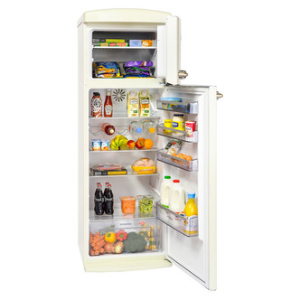 Britannia 544446216 Breeze Retro Top Mount Fridge Freezer in Cream A R
