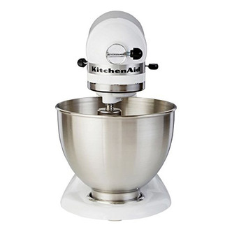Image of KitchenAid 5K45SSBWH Stand Mixer in White 275W 10 Speed