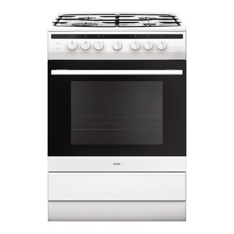 Image of Amica 608GG5MSW 60cm Gas Cooker in White 2yr Warranty FSD A Rated