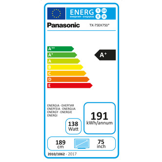 Panasonic TX75EX750B 75 4K 3D HDR UHD Smart LED TV 2400Hz Freeview Pla
