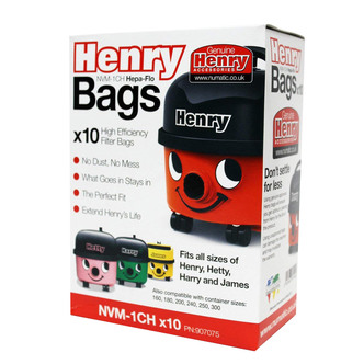 Numatic 907075 Genuine Henry Vac Hepaflow Filter Bag 10 Pack