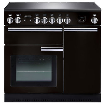 Image of Rangemaster 91830 90cm PROFESSIONAL Ceramic Range Cooker Black