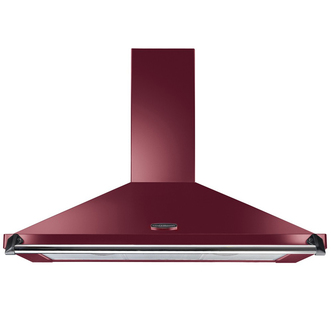 Image of Rangemaster 92850 110cm CLASSIC Cooker Hood in Cranberry with Chrome R