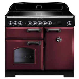 Rangemaster 95940 100cm CLASSIC DELUXE Induction Range In Cranberry