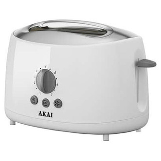 Akai A20001 2 Slice Cool Touch Toaster in White