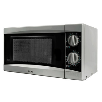 Akai A24002 Microwave Oven in Silver 800W 20L Manual 3yr Gtee