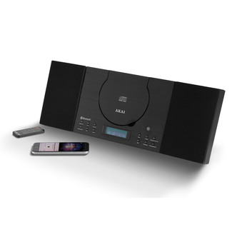Image of Akai A58046 Compact Hi Fi System in Black CD FM with Bluetooth