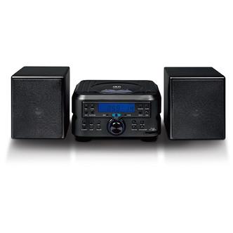 Akai A60006 Micro Hi Fi System in Black CD FM Tuner MP3 Playback