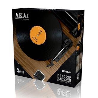 Image of Akai A60020 Classic 3 Speed Bluetooth Turntable in Oak USB Input