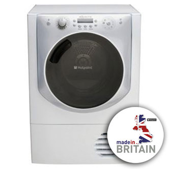 Hotpoint AQC9BF7I 9kg AQUALTIS Condenser Tumble Dryer in White Sensor
