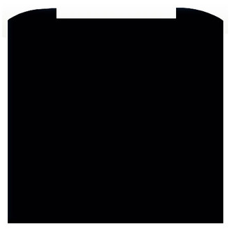 CDA ASG62CBL 60cm Curved Glass Splashback in Black