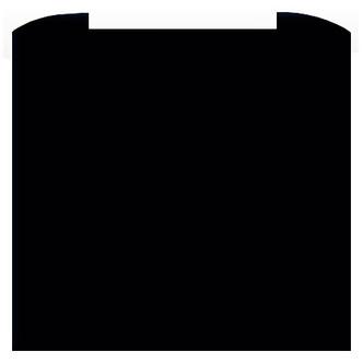 CDA ASG72CBL 70cm Curved Glass Splashback in Black