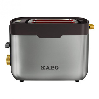 Image of AEG AT5300U 2 Slot Toaster in Stainless Steel Black