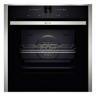 Image of Neff B57CR22N0B Built In Electric Pyrolytic Oven in St Steel 71L S H