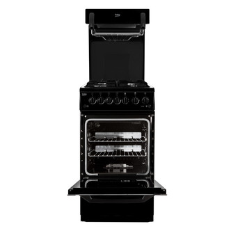 Beko BA52K 50cm Eye Level Grill Gas Cooker in Black A Rated