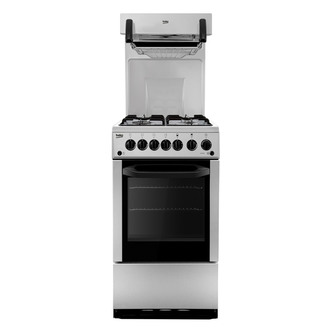 Beko BA52S 50cm Eye Level Grill Gas Cooker in Silver A Rated