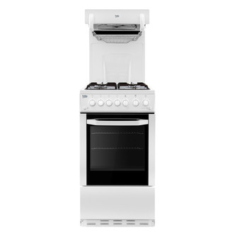 Beko BA52W 50cm Eye Level Grill Gas Cooker in White A Rated