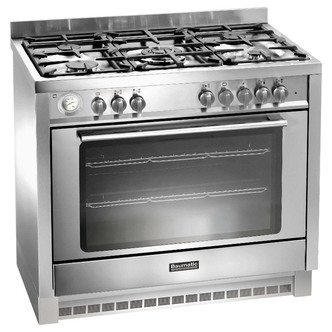 Baumatic BCD905SS 90cm Single Oven Dual Fuel Range Cooker in St Steel