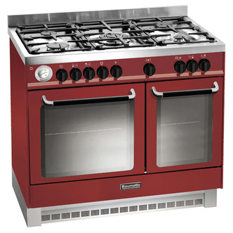 Baumatic BCD925BDY 90cm Twin Cavity Dual Fuel Range Cooker in Red