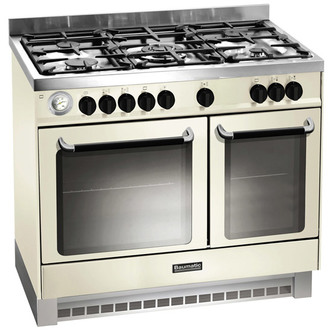 Baumatic BCD925IV 90cm Twin Cavity Dual Fuel Range Cooker in Ivory