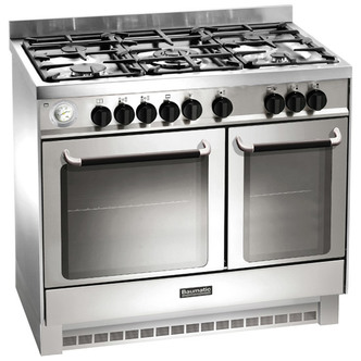 Baumatic BCD925SS 90cm Twin Cavity Dual Fuel Range Cooker in St Steel
