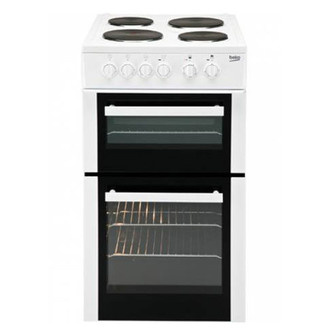 Beko BCDP503W 50cm Electric Cooker in White Double Oven