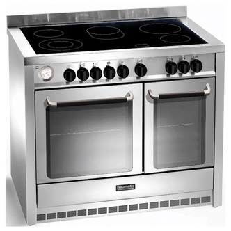 Baumatic BCE1025SS 100cm Twin Cavity Dual Fuel Range Cooker in St Stee
