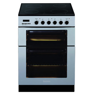 Baumatic BCE625SS 60cm Twin Cavity Electric Cooker in Stainless Steel