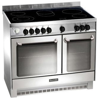 Baumatic BCE925SS 90cm Electric Range Cooker in St Steel Ceramic Hob
