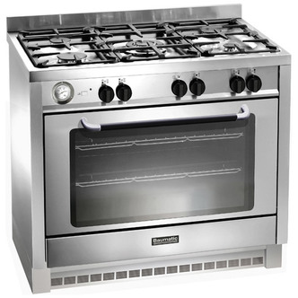 Baumatic BCG905SS 90cm Gas Range Cooker in Stainless Steel Single Oven