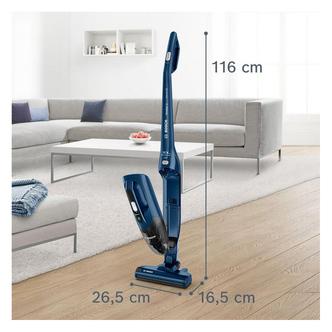 Bosch BCHF216GB Cordless Stick Vacuum Cleaner 40m Run Time in Blue