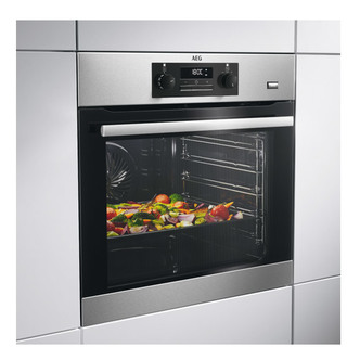 Image of AEG BES351210M Built In Multifunction Electric Single Oven in St Steel