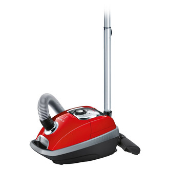 Bosch BGL8PETGB Power Animal Bagged Cylinder Vacuum Cleaner in Red