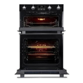 Image of Belling BI902FPBLK Built In Electric Double Oven in Black Programmable