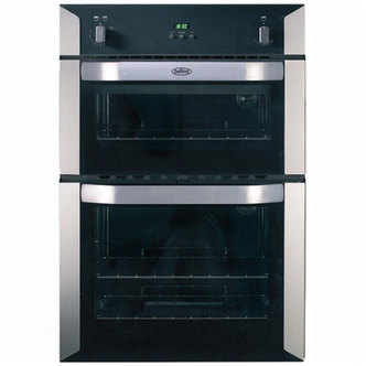 Belling 444449598 90cm Built In Gas Double Oven in Stainless Steel