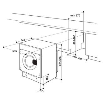 Hotpoint BIWDHG75148 Integrated Washer Dryer 1400rpm 7kg 5kg