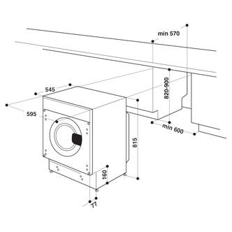 Hotpoint BIWMHG91484 Fully Integrated Washing Machine 1400rpm 9kg A Ra