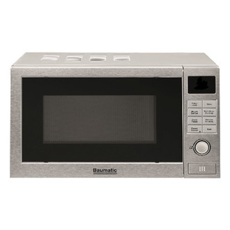 Baumatic BMFS3420 Microwave Oven in Silver 700W 20L 5 Power Levels