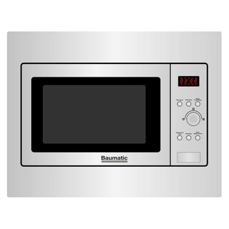 Baumatic BMIC4625 Built In Combination Microwave Oven in St Steel 25L