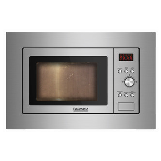 Baumatic BMIS3817 Built In Compact Microwave in St Steel 17L