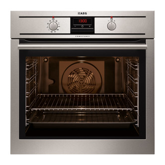 AEG BP3003001M Built In Single Electric Multifunction Oven in St Steel