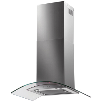 Image of Baumatic BT7 3GL 70cm Chimney Hood Curved Glass in Stainless Steel