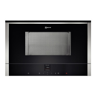 Neff C17WR00N0B Built In Microwave Oven in St Steel 900W Left Hinged