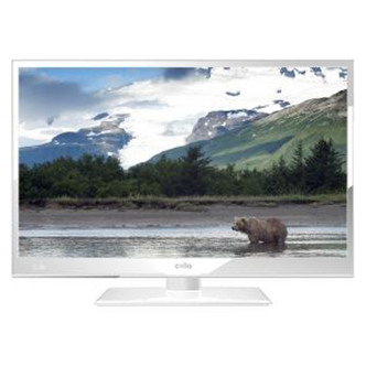 Cello C24230DVBWH 24 HD Ready LED TV in White Freeview USB Record
