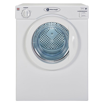 White Knight C39AW 3 5kg Compact Vented Tumble Dryer in White C Rated