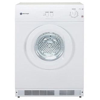 White Knight C44A7W 7kg Air Vented Tumble Dryer in White Reverse Actio